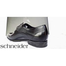 Bőr cipő Schneider Excluisive Fekete