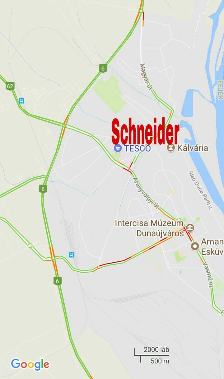 Schneider Dunaújváros Tesco térkép