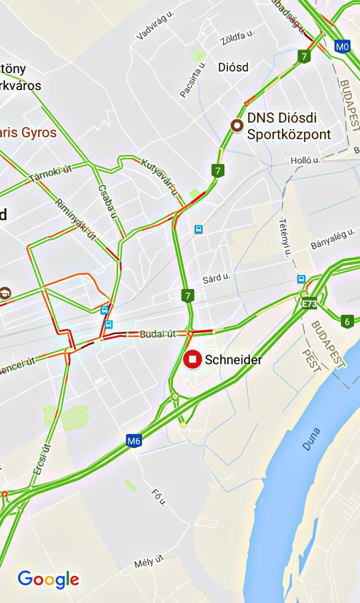 Schneider Érd Tesco térkép