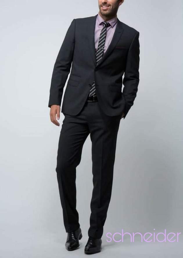 sötétszürke slim öltöny