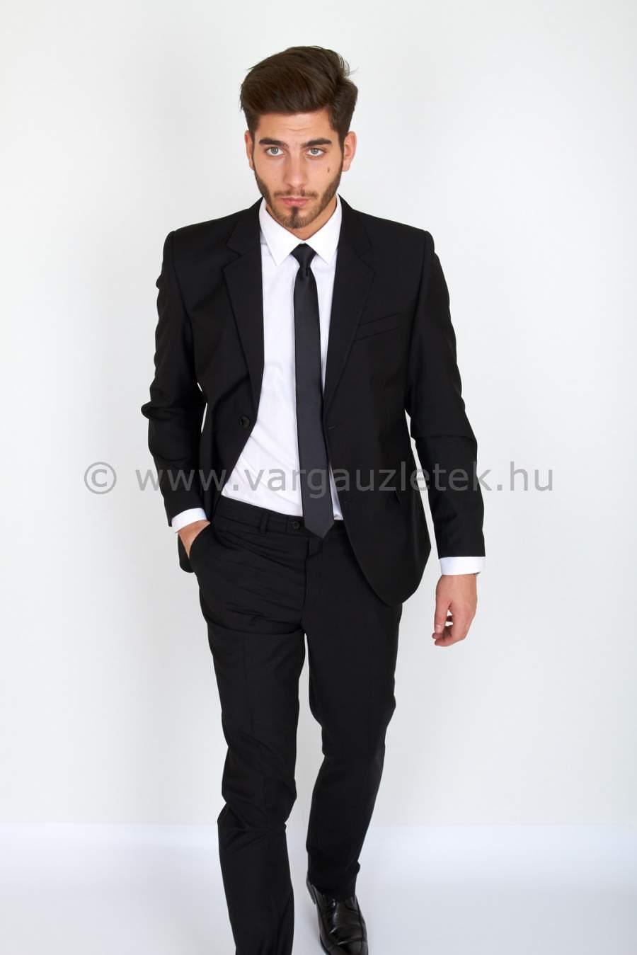 Fekete SLIM ELASZTIC öltöny AKCIÓ