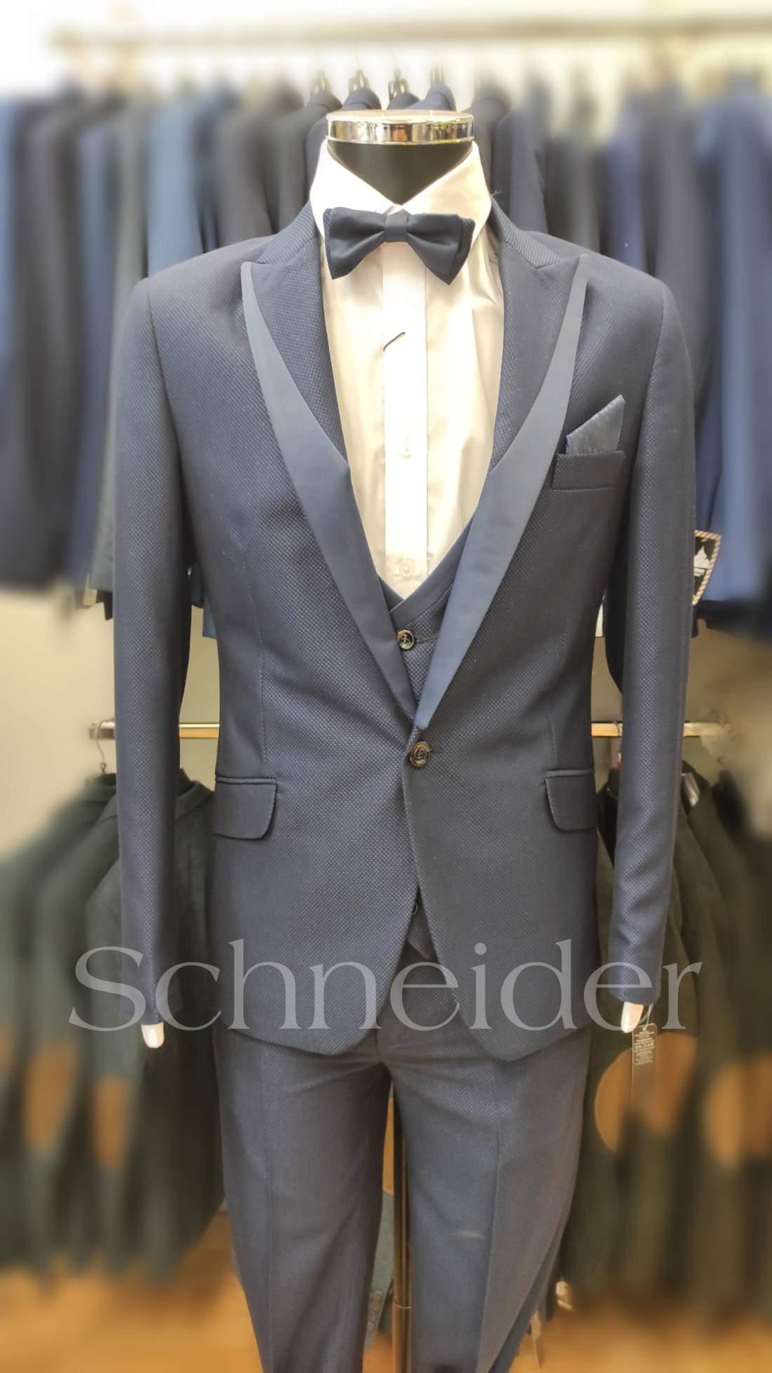 Schneider esküvői öltöny(5 részes) kék
