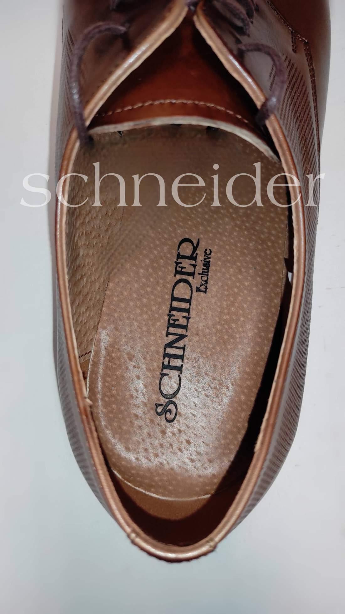 Bőr cipő Schneider Excluisive Barna
